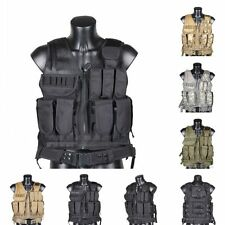 Various Camo Airsoft Combat Protective Paintaball Tactical Assault Vest Molle