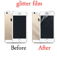 2PC Front/Back Silver Glitter Screen Protector Film Cover For iPhone 5 6S 7Plus