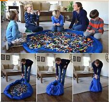 150CM KIDS LEGO TOY STORAGE BAG & PLAY MAT PORTABLE (2 IN 1) *UK SELLER* -NEW-