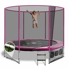 8ft Round Summit Trampoline - Pink - Free Delivery