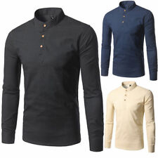 Hot New Men's Luxury Casual Stylish Slim Fit Long Sleeve Dress Shirts Tops qq1