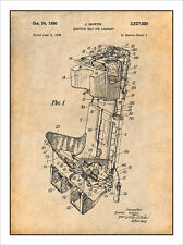 1948 Martin Aircraft Ejection Seat Patent Print Art Drawing Poster 18X24