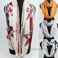 Fashion Women's Stars Print Soft Infinity Loop Cowl Casual Scarf Lady Shawl Wrap