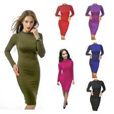 Womens Sexy Club Dress Long Sleeve Hollow Out Bodycon Bandage Party Dresses Y5M9
