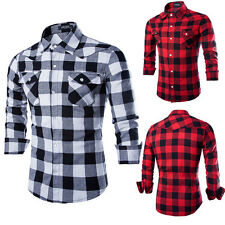 Fashion Men Winter Shirts Long Sleeve Cotton Slim Fit Casual Shirt Clothes New v