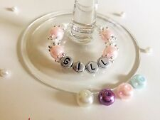Personalised Wine Glass Charms - Hen Night, wedding favours, table decorations