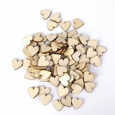 50/100pcs Plain Wooden Heart Embellishments for Crafts 40mm Handcraft UK Stock
