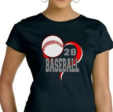 Graphics Design T-Shirt Baseball LAT Ringspun Cotton Short Sleeve