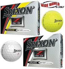 2017 SRIXON Z-STAR XV GOLF BALLS - YELLOW / WHITE - PICK 2, 4, OR 6 DOZEN