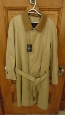 SANYO MEN'S TRENCHCOAT NWT SIZE 44R  BRITISH KHAKI TAN RETAIL $795