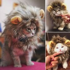 Hot Pet Hat Lion Mane Wig For Cat Halloween Fancy Dress Up With Ears Festival F7