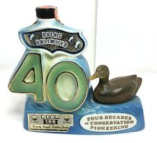 Jim Beam Whiskey Decanter Ducks Unlimited 40th -Mallard Hen-1977- Empty
