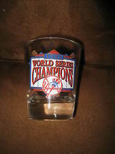 1998 NEW YORK YANKEES WORLD SERIES CHAMPIONS SHOT GLASS