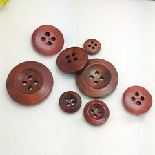 50Pcs 4 Holes Wooden Round Buttons Clothing Buttons DIY Sewing Craft Sassy