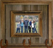 NEW RUSTIC FARMHOUSE HORSE PONY SHOE BARNWOOD PICTURE PHOTO CANVAS FRAME DECOR