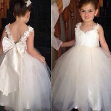 Flower Girl Princess Dress Kids Party Pageant Wedding Bridesmaid Tutu Dress Gown