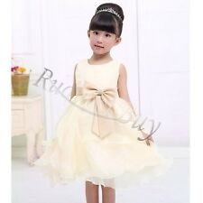 Princess Flower Girls Wedding Pageant Party Bridesmaid Gown Formal Easter Dress
