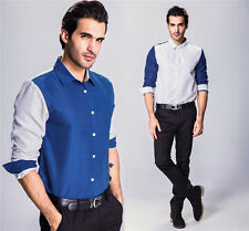Stylish Mens New Luxury Long Sleeve Casual Shirt Slim Fit Dress Shirts Tops 2XL