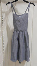 Tommy Girl Size S, M, & L Light Denim-White Polka Dots Summer Dress