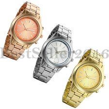 Business Classic Mens Quartz Stainless Steel Band Round Dial Analog Wrist Watch