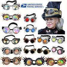 Hot Vintage Victorian Steampunk Goggle Glasses Welding Cyber Punk Retro Cosplay