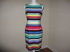Tahari ASL Striped Lined Sheath Dress for Woman Size4 NWT $118