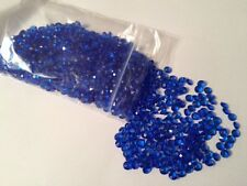 Blue Scatter Crystals 6.5mm Wedding Table Decoration Diamond Confetti Gems