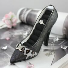 Luxurious Leopard Shoe Ring Holder - Black - 6W x 4H in.