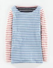 BRAND NEW Boden Long Line Long Sleeve Breton WL977 Long Sleeved Top  6