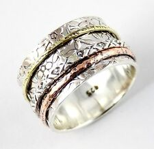 925 Sterling Silver Filigree Ring Rose Gold Plated Vintage Style Cocktail Ring