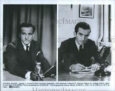 "Daniel J. Travanti and Edward R.Murrown in HBO Premiere Film ""Murrow."""