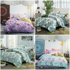 Floral 100%Cotton Quilt Duvet Cover Set Single Queen King Beds New Doona Cover
