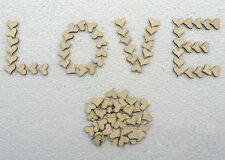 100X Wooden Love Heart Shape Wedding Supply Table Decoration Crafts Party Decor