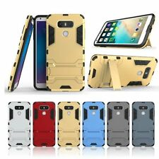 New Shockproof Slim Hybrid Impact Rugged Rubber Hard Armor Case Cover for LG G6