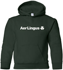 Aer Lingus Retro Logo Irish Airline Aviation HOODY