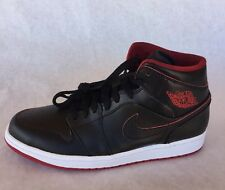 Nike Air Jordan 1 Mid Men's sneakers 554724 028 MULTI SIZE BLACK / GYM RED $110