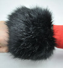 2Pcs Faux Fox Fur Raccoon Fur Cuffs Furry Wrist Warmer Ankle Leg Warmer
