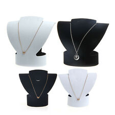 Jewelry Necklace Bust Earring Folding Velvet Display Holder Stand Rack Show Case
