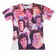 Funny Casual Women Men One Direction Celeb Harry Style 3D Print T-Shirt Tops Tee