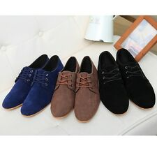 British Leather Slip On Mens Driving Moccasin Loafers Suede Casual Comfort Shoes
