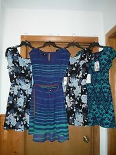 Short Sleeve lined Dresses size L,M,9,5,iZ and Three Pink Hearts Multi Color NWT