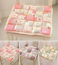 Floral Rose Quilted Cotton Chair Seat Pad/Mat cushion French Country Cottage