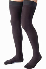 Jobst for Men 15-20 mmHg Thigh High Ribbed Compression Stockings with Silicone