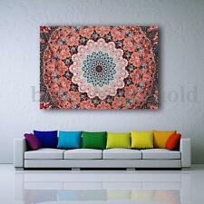 Ombre Indian Polyester Tapestry Wall Hanging Mandala Hippie Bedspread Throw
