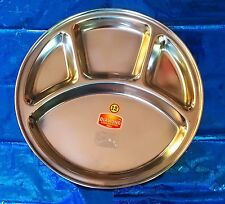 4 Compartments Stainless steel -Plate/Thali for lunch and dinner choose *ur*QTY