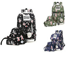 3pcs Canvas Women Backpack  travel bag laptop backpacks school bag for teenagers