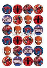 24 X Spiderman Edible Rice/wafer Paper or Icing Sheet Cup Cake Toppers