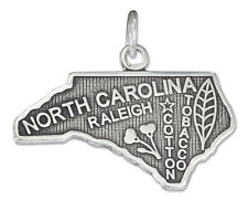 STERLING SILVER ANTIQUED NORTH CAROLINA STATE CHARM