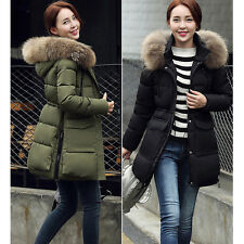 Women Thicken Warm Winter Coat Down Cotton Hood Parka Coat Long Jacket Outwear