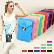 5.5 Cell Phone Pouch Case Wallet Purse Cross-body Bag Belt Loop for iPhone6 Plus